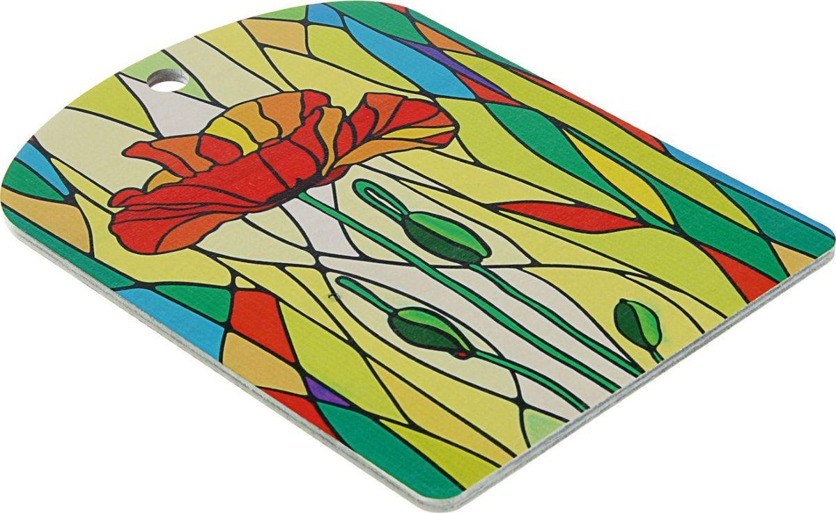 Доска разделочная ТД ДМ Мозайка. Цветок, 250 х 185 х 5 мм. 2478492