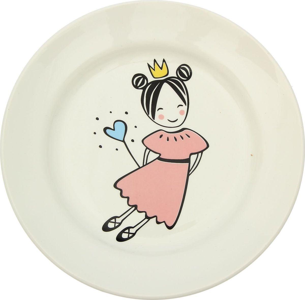 Тарелка Сотвори Чудо Маленькая королева, диаметр 20 см2470639Хотите обновить интерьер кухни или гостиной? Устраиваете необычную фотосессию или тематический праздник? А может, просто ищете подарок для близкого человека?Тарелка Сотвори Чудо Маленькая королева — правильный выбор в любой ситуации. Её достоинства:изящный фаянс нежного сливочного цвета;стойкость краски; пригодность для посудомоечных машин.