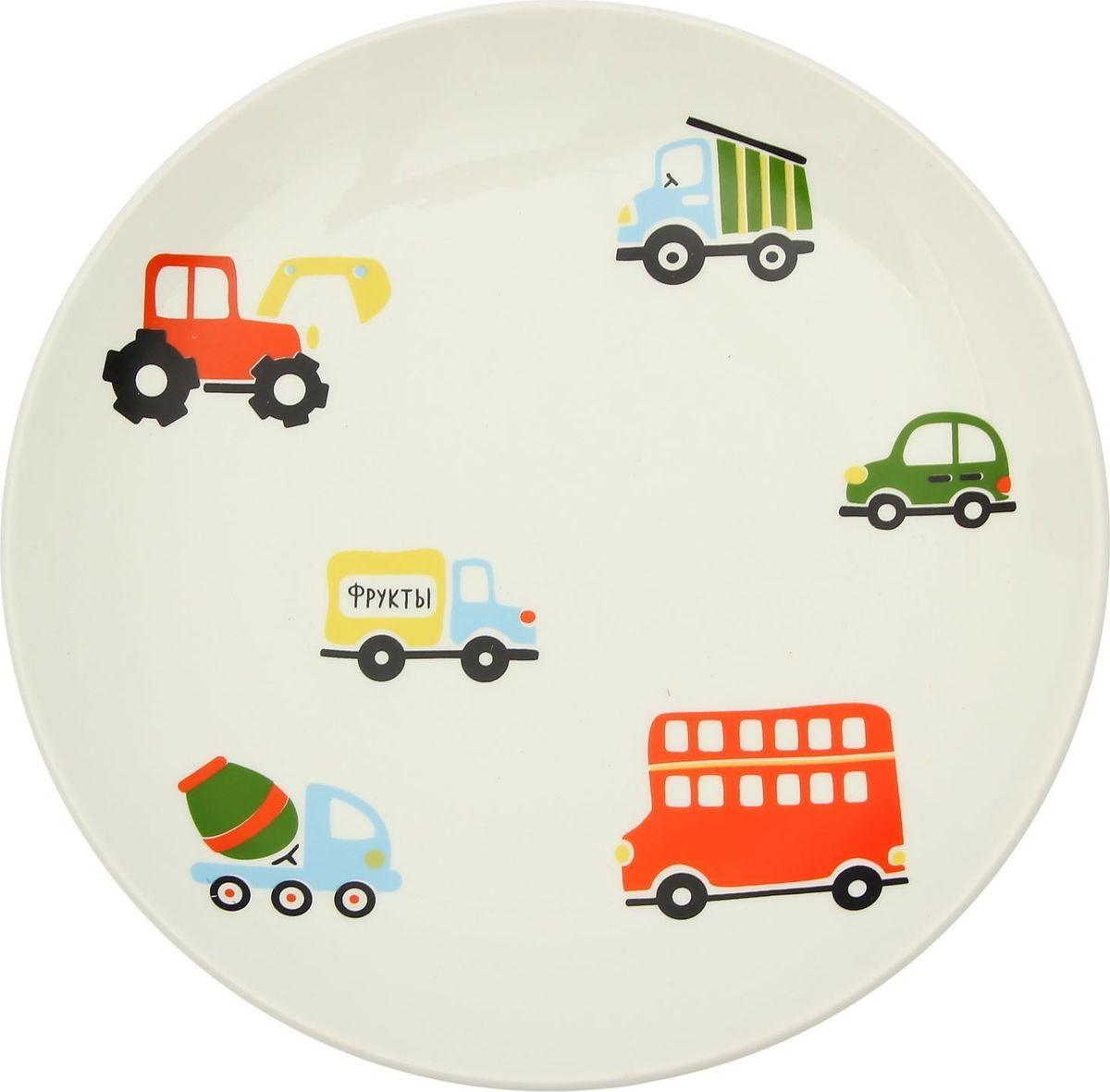 Тарелка Сотвори Чудо Машинки, диаметр 22 см тарелка сотвори чудо город любви диаметр 22 см