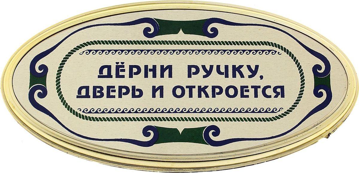 Табличка на дверь Дерни ручку, дверь откроется, 18 х 10 см табличка на дверь бюро находок главный режиссер цвет коричневый