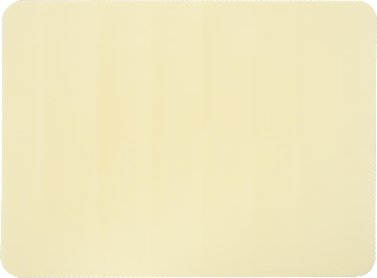 Коврик для теста Marmiton, цвет: бежевый, 38 х 28 см16065_бежевыйКоврик Marmiton выполнен из пищевого силикона. Материал устойчив к фруктовым кислотам, к воздействию низких и высоких температур, не взаимодействует с продуктами и не впитывает запахи как при нагревании, так и при заморозке. Изделие обладает естественными антипригарными свойствами, идеально подходит для раскатки теста. Коврик можно использовать в духовках и микроволновых печах при температуре от -40°С до +230°С.