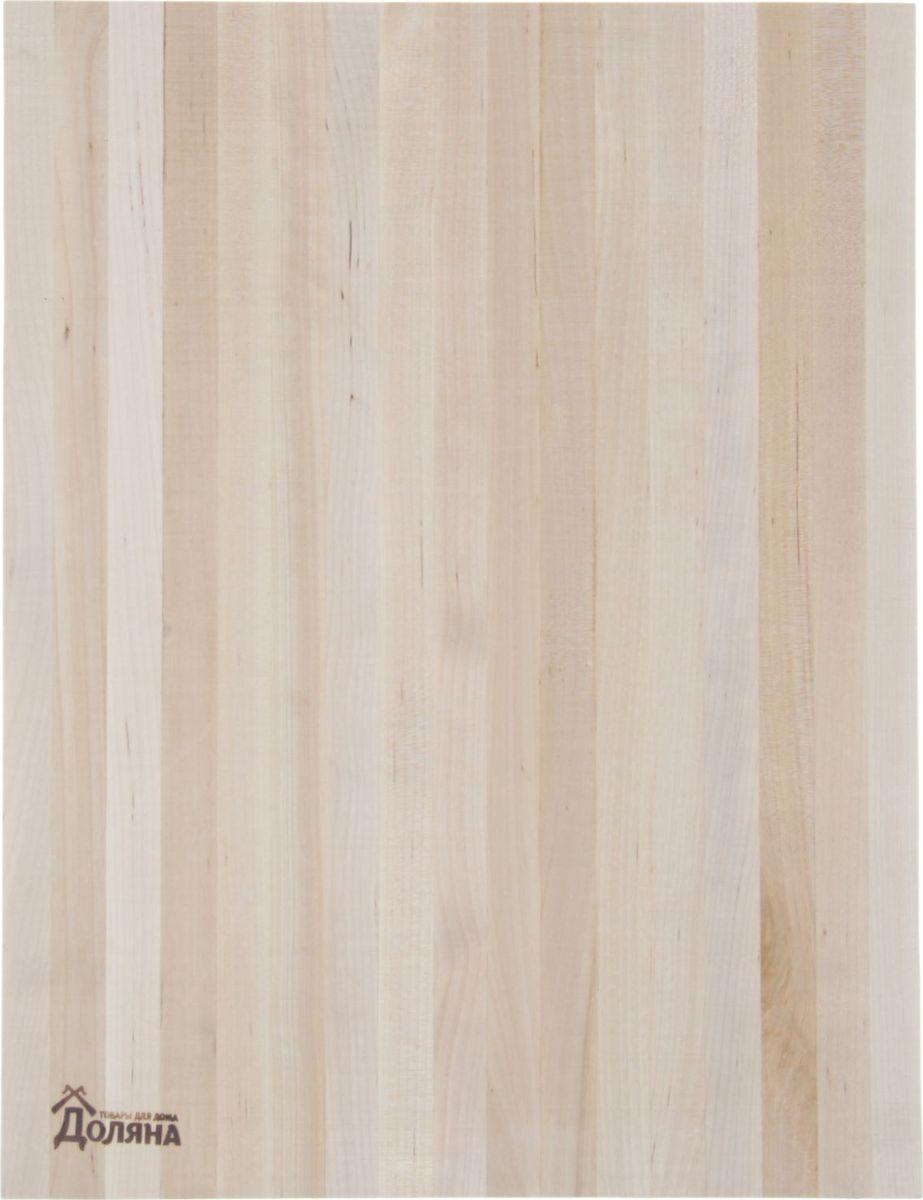 Доска разделочная Доляна, береза, 400 х 280 х 30 мм1241363Доска из качественного дерева по праву считается самой надёжной: она имеет высокую прочность, устойчива к сильным нагрузкам. Используя её, вы не затупите ножи. Разделочная доска не разбухает в воде, не впитывает влагу, устойчива к запахам.Дизайн.Доска из натурального дерева имеет приятный и естественный цвет. Специальное отверстие в её верхней части позволит подвесить разделочную доску на стену для удобства хранения. Доска из дерева может служить прекрасной подставкой для горячего.Уход.Чтобы ваша доска служила вам верой и правдой долгие годы, советуем следовать простым правилам. Они помогут вам сохранить её внешний вид и все потребительские качества:допускается только ручное мытьё, не кладите доску в посудомоечную машинку;не оставляйте разделочную доску отмокать в воде, мойте её только проточной водой до или после остальной посуды;отмывать доску необходимо под горячей водой, а ополаскивать — в холодной;сушите доску на воздухе, в подвешенном состоянии;для дезинфекции раз в месяц протирайте доску разведённым уксусом или лимонным соком.Если вы будете грамотно заботиться о своих кухонных помощниках, любой процесс приготовления пищи станет лёгким и приятным.
