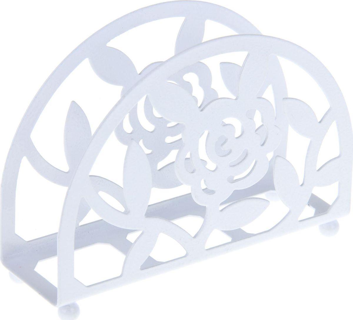 Салфетница Доляна Розы, 13 х 4 х 9 см1260283Салфетница – это обязательный предмет сервировки. Подобранная со вкусом и изяществом салфетница – это еще и декоративный элемент, отвечающий за эстетическую наполненность каждой трапезы.