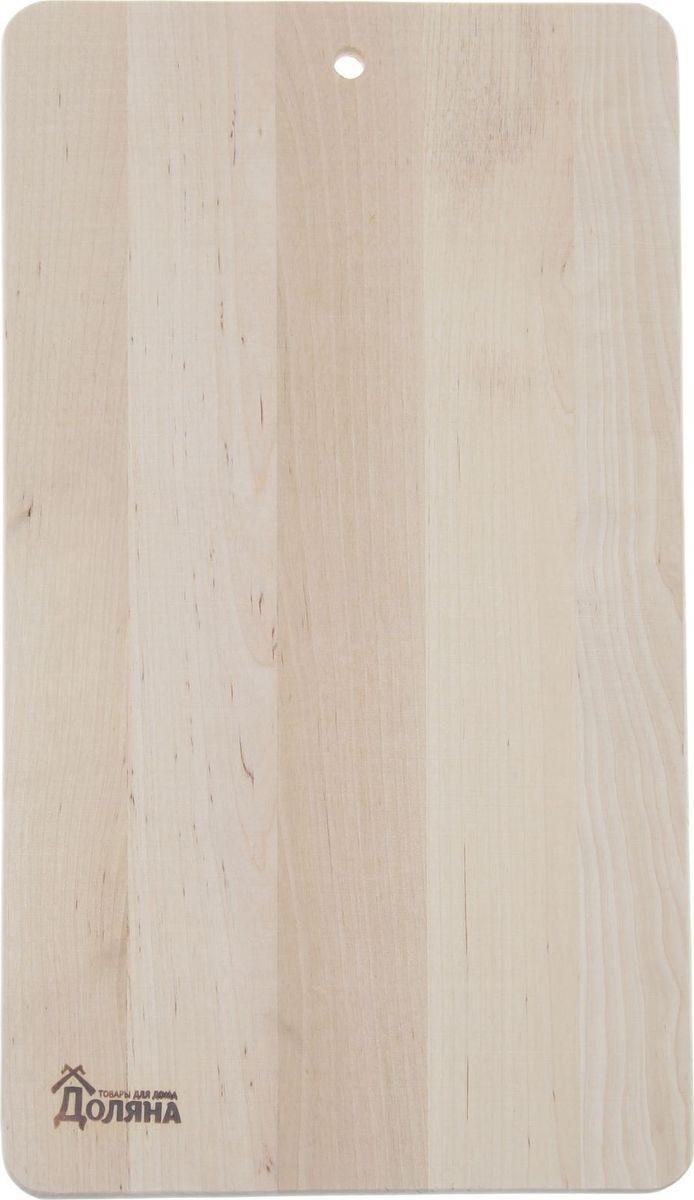 Доска разделочная Доляна , Классика, береза, 380 х 230 мм. 13018521301852Доска из качественного дерева по праву считается самой надёжной: она имеет высокую прочность, устойчива к сильным нагрузкам. Используя её, вы не затупите ножи. Разделочная доска не разбухает в воде, не впитывает влагу, устойчива к запахам.Дизайн.Доска из натурального дерева имеет приятный и естественный цвет. Специальное отверстие в её верхней части позволит подвесить разделочную доску на стену для удобства хранения. Доска из дерева может служить прекрасной подставкой для горячего.Уход.Чтобы ваша доска служила вам верой и правдой долгие годы, советуем следовать простым правилам. Они помогут вам сохранить её внешний вид и все потребительские качества:допускается только ручное мытьё, не кладите доску в посудомоечную машинку;не оставляйте разделочную доску отмокать в воде, мойте её только проточной водой до или после остальной посуды;отмывать доску необходимо под горячей водой, а ополаскивать — в холодной;сушите доску на воздухе, в подвешенном состоянии;для дезинфекции раз в месяц протирайте доску разведённым уксусом или лимонным соком.Если вы будете грамотно заботиться о своих кухонных помощниках, любой процесс приготовления пищи станет лёгким и приятным.