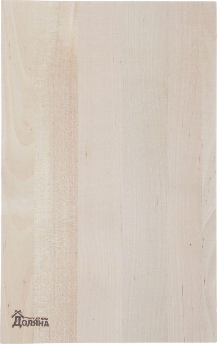 Доска разделочная Доляна, с бордюром, береза, 380 х 260 мм куплю доску обрезную в владимире