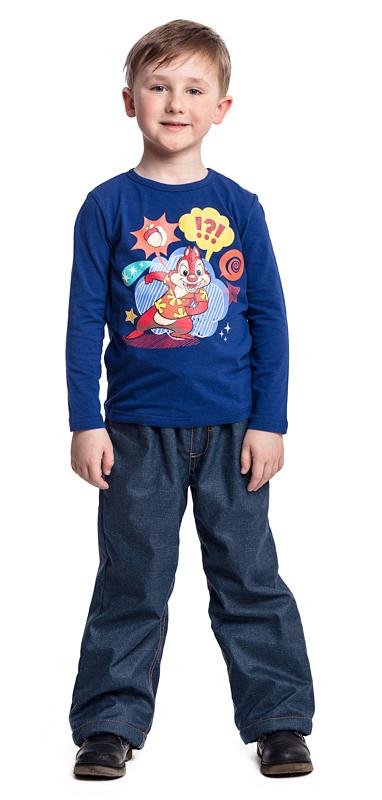 Футболка с длинным рукавом для мальчика PlayToday, цвет: синий. 571052. Размер 128571052Футболка PlayToday выполнена из эластичного хлопка. Модель с длинными рукавами и круглым вырезом горловины оформлена принтом.