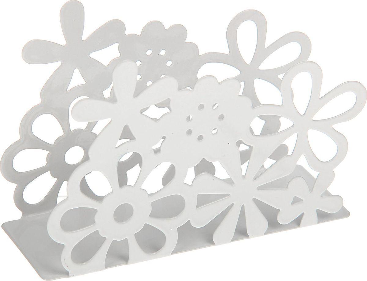 Салфетница Доляна Цветы, 13 х 4,5 х 9 см1696006Салфетница – это обязательный предмет сервировки. Подобранная со вкусом и изяществом салфетница – это еще и декоративный элемент, отвечающий за эстетическую наполненность каждой трапезы.