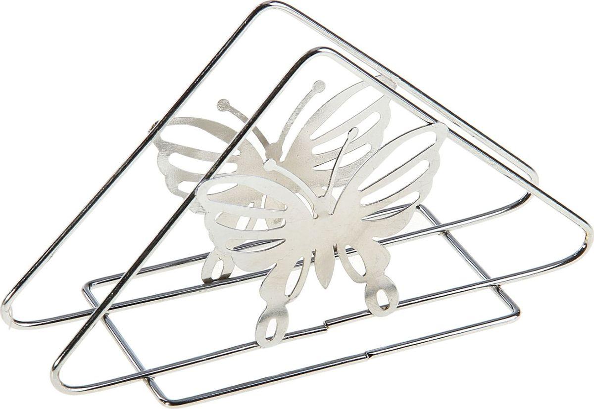 Салфетница Доляна Бабочки, 14 х 6 х 8 см405055Салфетница – это обязательный предмет сервировки. Подобранная со вкусом и изяществом салфетница – это еще и декоративный элемент, отвечающий за эстетическую наполненность каждой трапезы.
