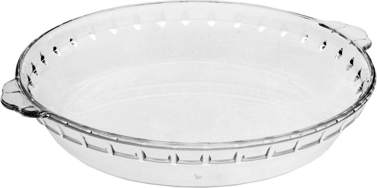 Блюдо Доляна, жаропрочное, с ручками, 1 л, 25 х 3 см746488Форма для запекания Доляна — необходимый атрибут в каждом доме, где любят вкусно готовить. Изделие выполнено из жаропрочного стекла, прошедшего несколько стадий закаливания. Оно подойдёт для приготовления блюд из мяса, рыбы и овощей. Преимущества изделия: Возможность использования в СВЧ-печах и хранения в холодильнике. Быстрая мойка (в том числе в посудомоечной машине). Долгий срок службы. Изготовлено из экологичного материала. Форма может быть использована для подачи готовых блюд. Рекомендуется избегать резких перепадов температуры.