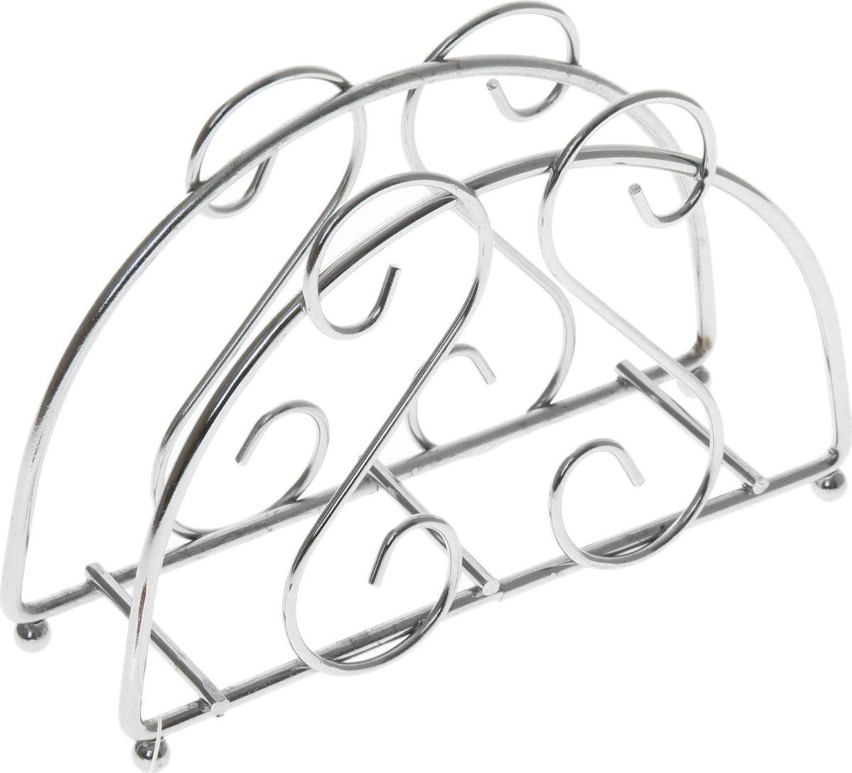 Салфетница Доляна Завитки, 13,5 х 3,5 х 9 см890911Салфетница Доляна Завитки – это обязательный предмет сервировки. Изделие выполнено из металла. Подобранная со вкусом и изяществом салфетница – это еще и декоративный элемент, отвечающий за эстетическую наполненность каждой трапезы.