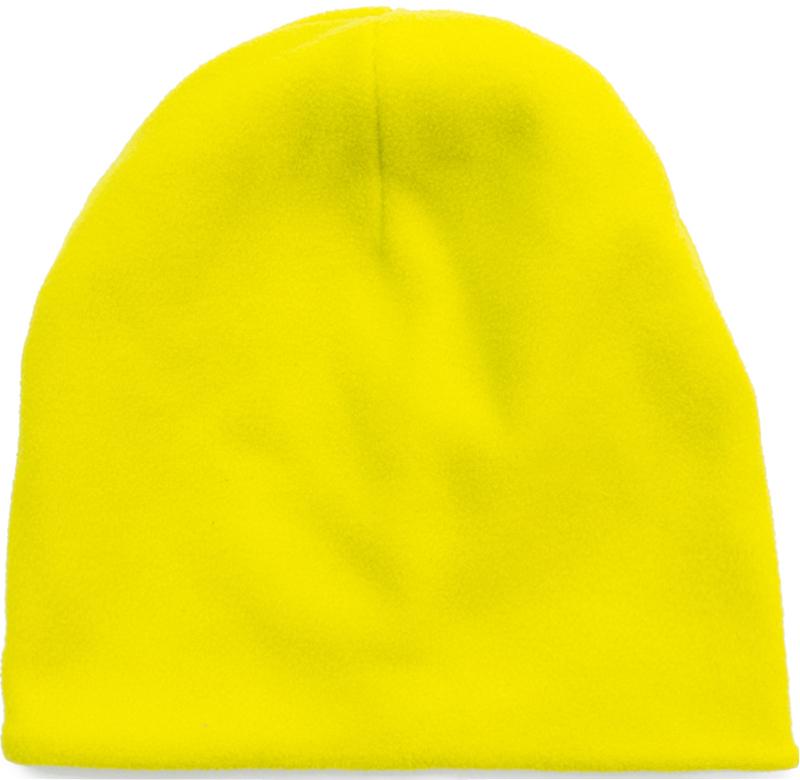 Шапка для девочки PlayToday, цвет: желтый. 379021. Размер 54379021Двуслойная шапка PlayToday. Внешняя часть из флиса. Внутренняя - из мягкого хлопкового трикотажа. Модель без завязок, плотно прилегает к голове, комфортна при носке.