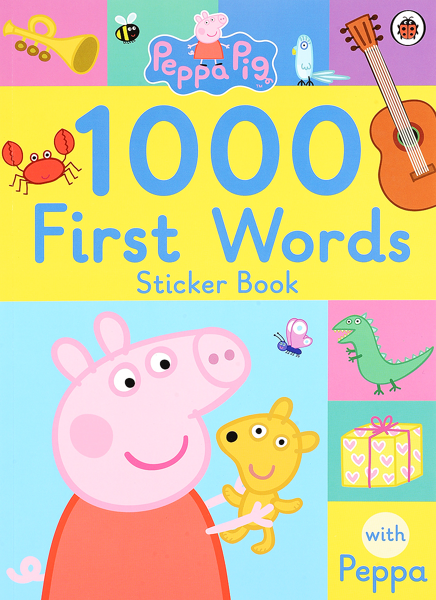 Peppa Pig: 1000 First Words Sticker Book first sticker book easy spanish words