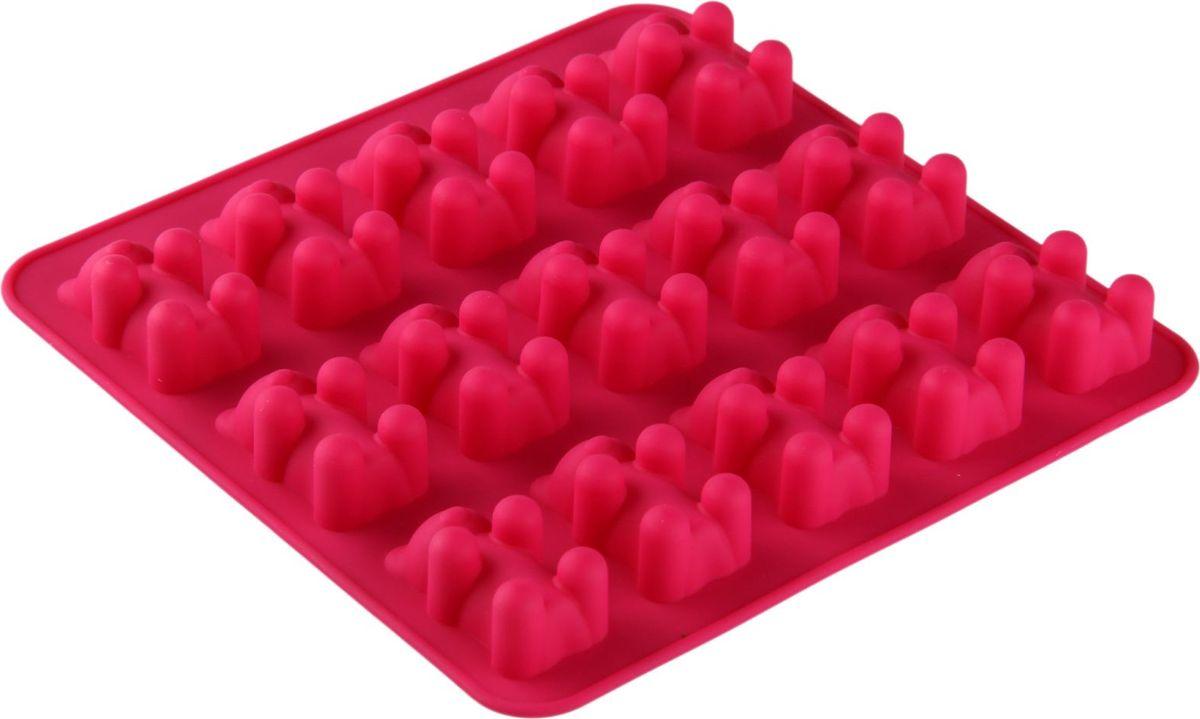 Форма для льда и шоколада Доляна Медвежата, 15 ячеек, 18 х 2 см1005226Силикон не теряет эластичности при отрицательных температурах (до - 40?С), поэтому, готовые льдинки легко достаются из формы и не крошатся. Лед получается идеальной формы. С силиконовыми формами для льда легко фантазировать и придумывать новые рецепты. В формах можно заморозить сок или приготовить мини порции мороженого, желе, шоколада или другого десерта. Особенно эффектно выглядят льдинки с замороженными внутри ягодами или дольками фруктов. Заморозив настой из трав, можно использовать его в косметологических целях.