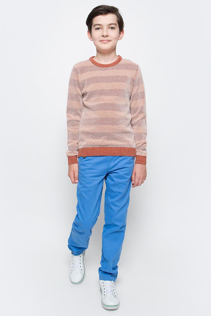 Джемпер для мальчика Sela, цвет: желто-оранжевый. JR-814/279-7112. Размер 140, 10 лет цена