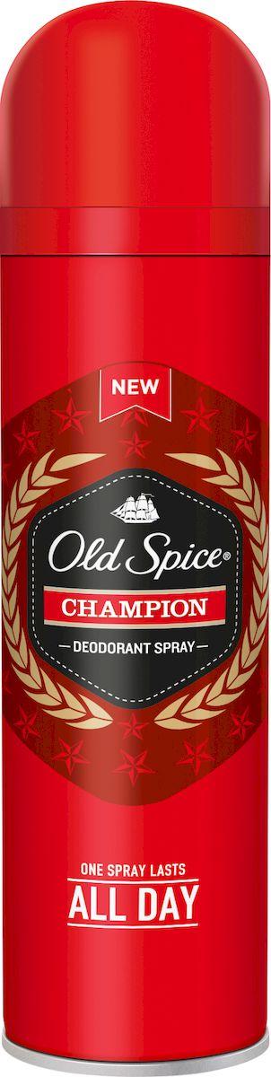 Old Spice Дезодорант-спрей Champion, 125 мл028573Один пшик - весь день мужикЧемпионы бывают разные, но аромат у них один. Ты должен пахнуть так, как будто твои мечты уже стали реальностью. После использования дезодоранта Old Spice каждая клетка твоего тела будет источать приятный аромат — хочет она того или нет. Раскрой свою мужественность и забудь про неприятный запах раз и навсегда — выбери дезодорант Old Spice Champion. Old Spice Champion - аромат успеха.