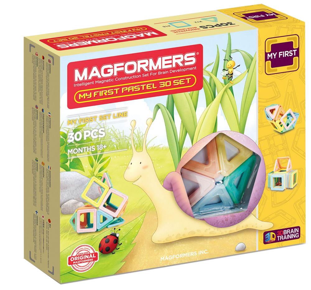 Magformers Магнитный конструктор My First Pastel 30 Set magformers my first magformers 30