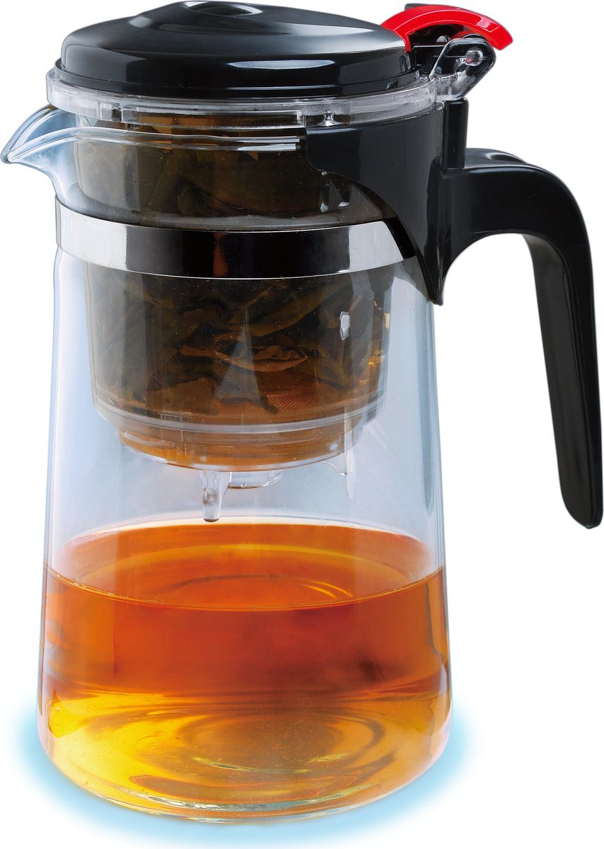 Чайник заварочный Queen Ruby, с фильтром, 750 мл. QR-6035QR-6035Заварочный чайник Queen Ruby изготовлен из высококачественного жаропрочного стекла и пластика. Изделие оснащено сетчатым металлическим фильтром, который задерживает чаинки и предотвращает их попадание в чашку, а прозрачные стенки дадут возможность наблюдать за насыщением напитка.Чай в таком чайнике дольше остается горячим, а полезные и ароматические вещества полностью сохраняются в напитке.Объем: 0,75 л.