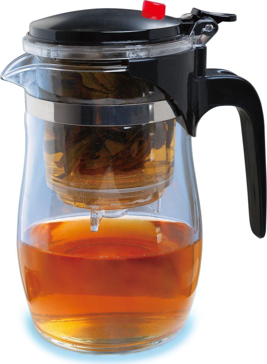Чайник заварочный Queen Ruby, с фильтром, 500 мл. QR-6041QR-6041Заварочный чайник Queen Ruby изготовлен из высококачественного жаропрочного стекла и пластика. Изделие оснащено сетчатым металлическим фильтром, который задерживает чаинки и предотвращает их попадание в чашку, а прозрачные стенки дадут возможность наблюдать за насыщением напитка.Чай в таком чайнике дольше остается горячим, а полезные и ароматические вещества полностью сохраняются в напитке.Объем: 0,5 л.