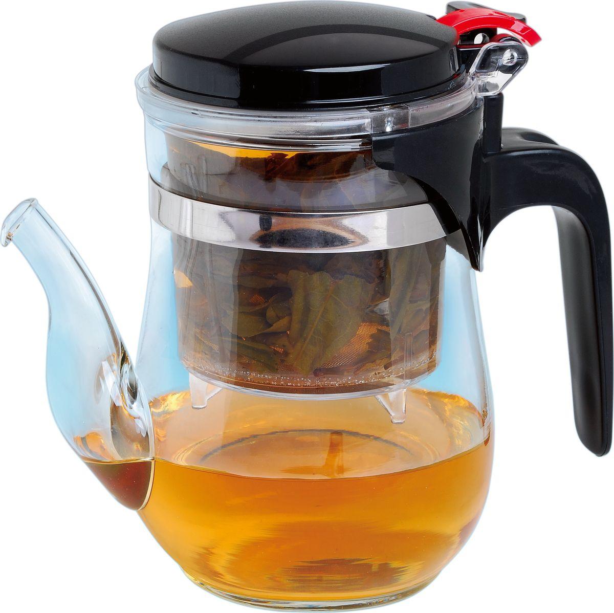 Чайник заварочный Queen Ruby, 500 мл. QR-6045QR-6045Заварочный чайник Mayer & Boch изготовлен из термостойкого боросиликатного стекла, фильтр выполнен из нержавеющей стали. Изделия из стекла не впитывают запахи, благодаря чему вы всегда получите натуральный, насыщенный вкус и аромат напитков. Заварочный чайник из стекла удобно использовать для повседневного заваривания чая практически любого сорта. Но цветочные, фруктовые, красные и желтые сорта чая лучше других раскрывают свой вкус и аромат при заваривании именно в стеклянных чайниках, а также сохраняют все полезные ферменты и витамины, содержащиеся в чайных листах. Стальной фильтр гарантирует прозрачность и чистоту напитка от чайных листьев, при этом сохранив букет и насыщенность чая. Прозрачные стенки чайника дают возможность насладиться насыщенным цветом заваренного чая. Изящный заварочный чайник Mayer & Boch будет прекрасно смотреться в любом интерьере. Подходит для мытья в посудомоечной машине.