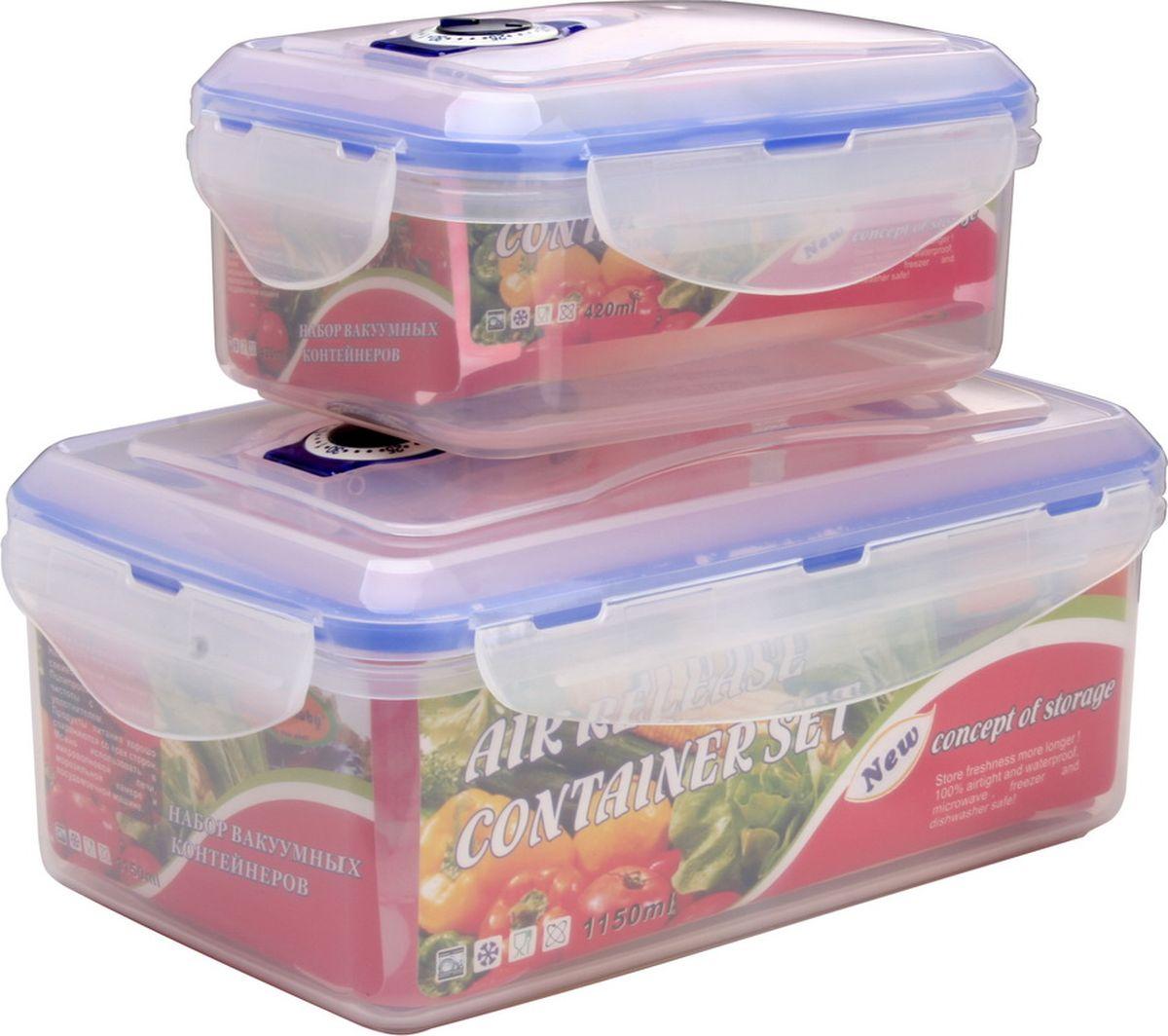 Набор контейнеров Queen Ruby, прямоугольные, 2 шт. QR-8577QR-8577Набор Queen Ruby состоит из двух контейнеров, которые изготовлены из высококачественного пластика. Изделие идеально подходит не только для хранения, но и для транспортировки пищи. Контейнеры оснащены плотно закрывающимися пластмассовыми крышками. Выдерживают температуру от -20°С до +120°С. Можно использовать в СВЧ-печах, холодильниках и морозильных камерах. Можно мыть в посудомоечной машине. Размеры контейнеров: 14,7 х 10,3 х 6,8 см; 20 х 13 х 9 см.Объем контейнеров: 420 мл, 1150 мл.