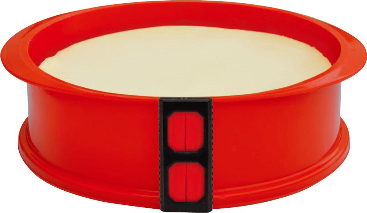 Форма для выпечки As Seen On TV, разъемная, силиконовая, диаметр 23 смTV-112Разъемная антипригарная силиконовая форма для выпечки As Seen On TV станет вашим надежным помощником на кухне. С ней вы сможете не только испечь даже самые нежные десерты, но и подать их на стол непосредственно на основании формы, которое выполнено из закаленного стекла. Надежная конструкция исключает протекание, идеально подходит для приготовления даже самых нежных десертов, таких как чизкейки и йогуртовые торты. Форму можно использовать при температуре от -40°С до +220°С.Диаметр формы: 23 см.Высота стенки: 7,5 см.