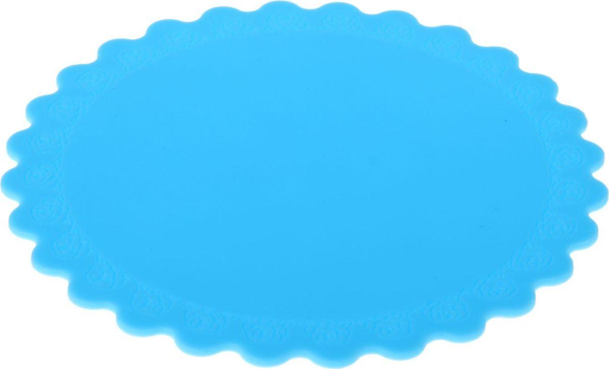 Подставка под горячее Доляна Цветок, цвет: голубой, диаметр 14 см1057101Силиконовая подставка под горячее — практичный предмет, который обязательно пригодится в хозяйстве. Изделие поможет сберечь столы, тумбы, скатерти и клеёнки от повреждения нагретыми сковородами, кастрюлями, чайниками и тарелками.