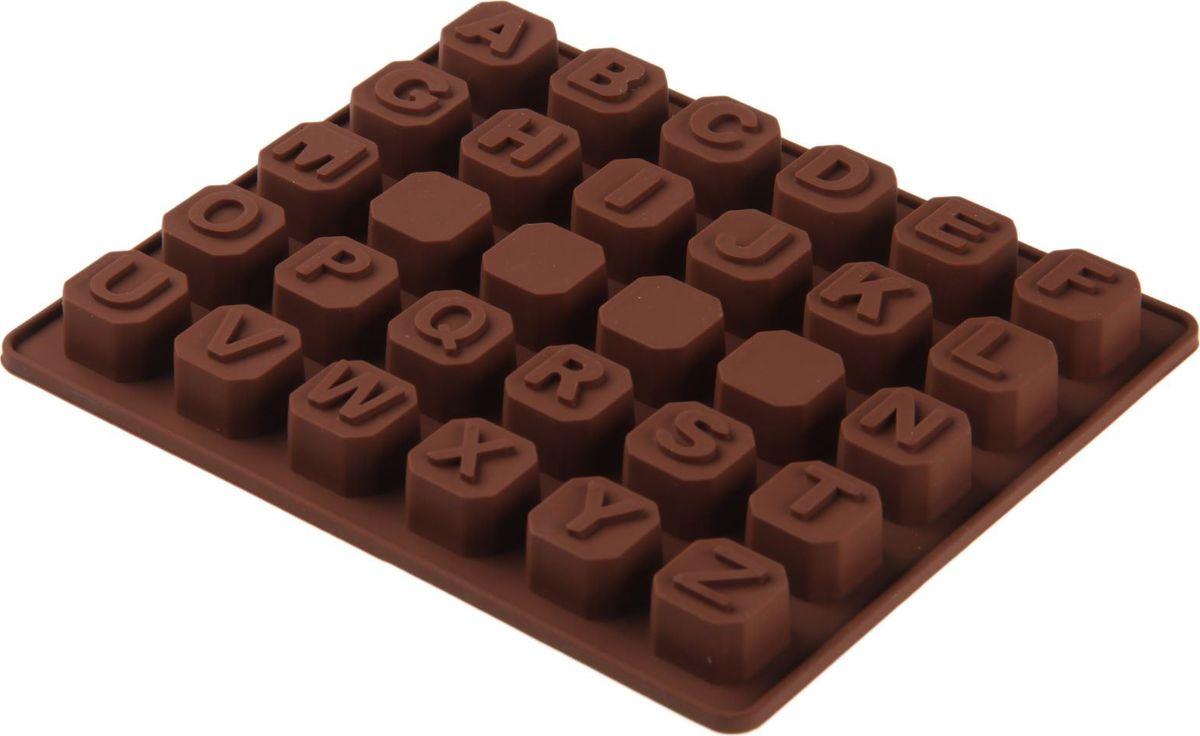 Форма для льда и шоколада Доляна Английский алфавит, 30 ячеек, 17 х 14 х 2 см1057115Силикон не теряет эластичности при отрицательных температурах (до - 40?С), поэтому, готовые льдинки легко достаются из формы и не крошатся. Лед получается идеальной формы. С силиконовыми формами для льда легко фантазировать и придумывать новые рецепты. В формах можно заморозить сок или приготовить мини порции мороженого, желе, шоколада или другого десерта. Особенно эффектно выглядят льдинки с замороженными внутри ягодами или дольками фруктов. Заморозив настой из трав, можно использовать его в косметологических целях.
