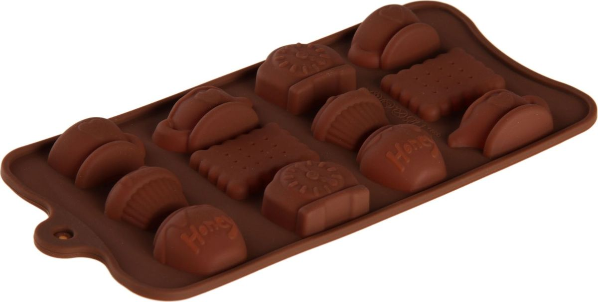 Форма для льда и шоколада Доляна Чаепитие, 12 ячеек, 22,5х10,5х2 см1166893Силикон не теряет эластичности при отрицательных температурах (до - 40?С), поэтому, готовые льдинки легко достаются из формы и не крошатся. Лед получается идеальной формы. С силиконовыми формами для льда легко фантазировать и придумывать новые рецепты. В формах можно заморозить сок или приготовить мини порции мороженого, желе, шоколада или другого десерта. Особенно эффектно выглядят льдинки с замороженными внутри ягодами или дольками фруктов. Заморозив настой из трав, можно использовать его в косметологических целях.