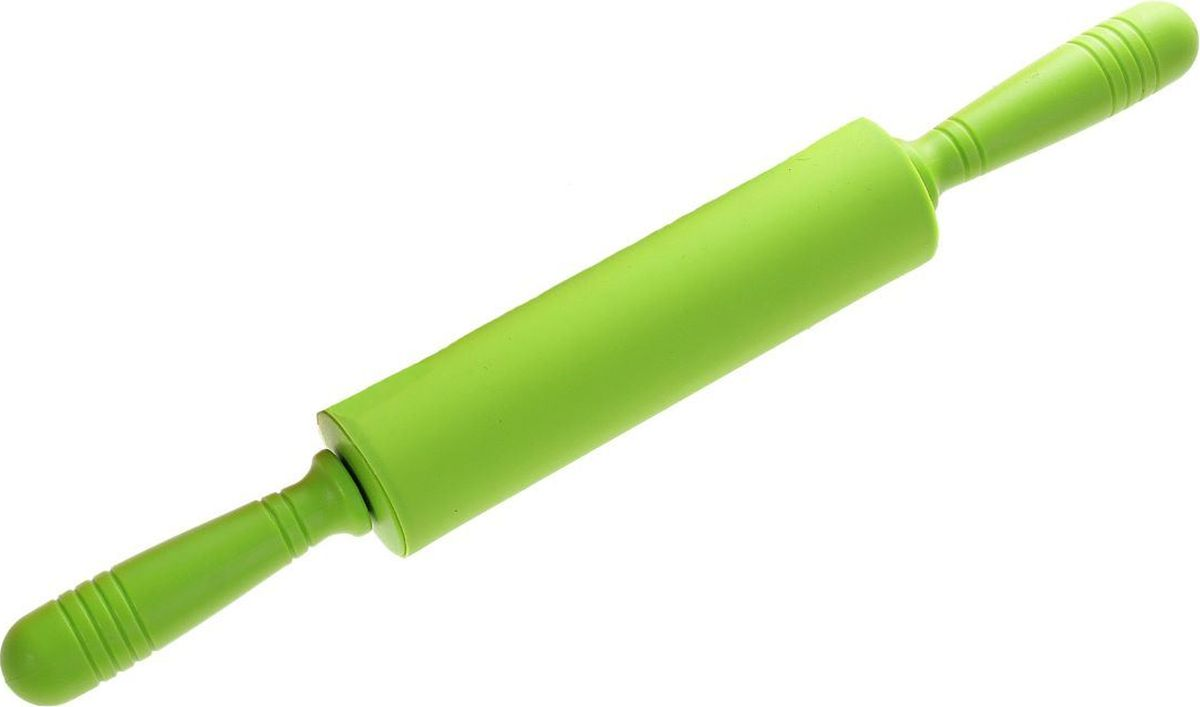 Скалка Доляна Севилья, 43 х 5 см118931Скалка — необходимый на кухне предмет. Изделие из силикона представляет собой усовершенствованную версию привычного инструмента. Яркий дизайн делает предмет украшением арсенала каждого повара. Готовку облегчают удобные ручки.