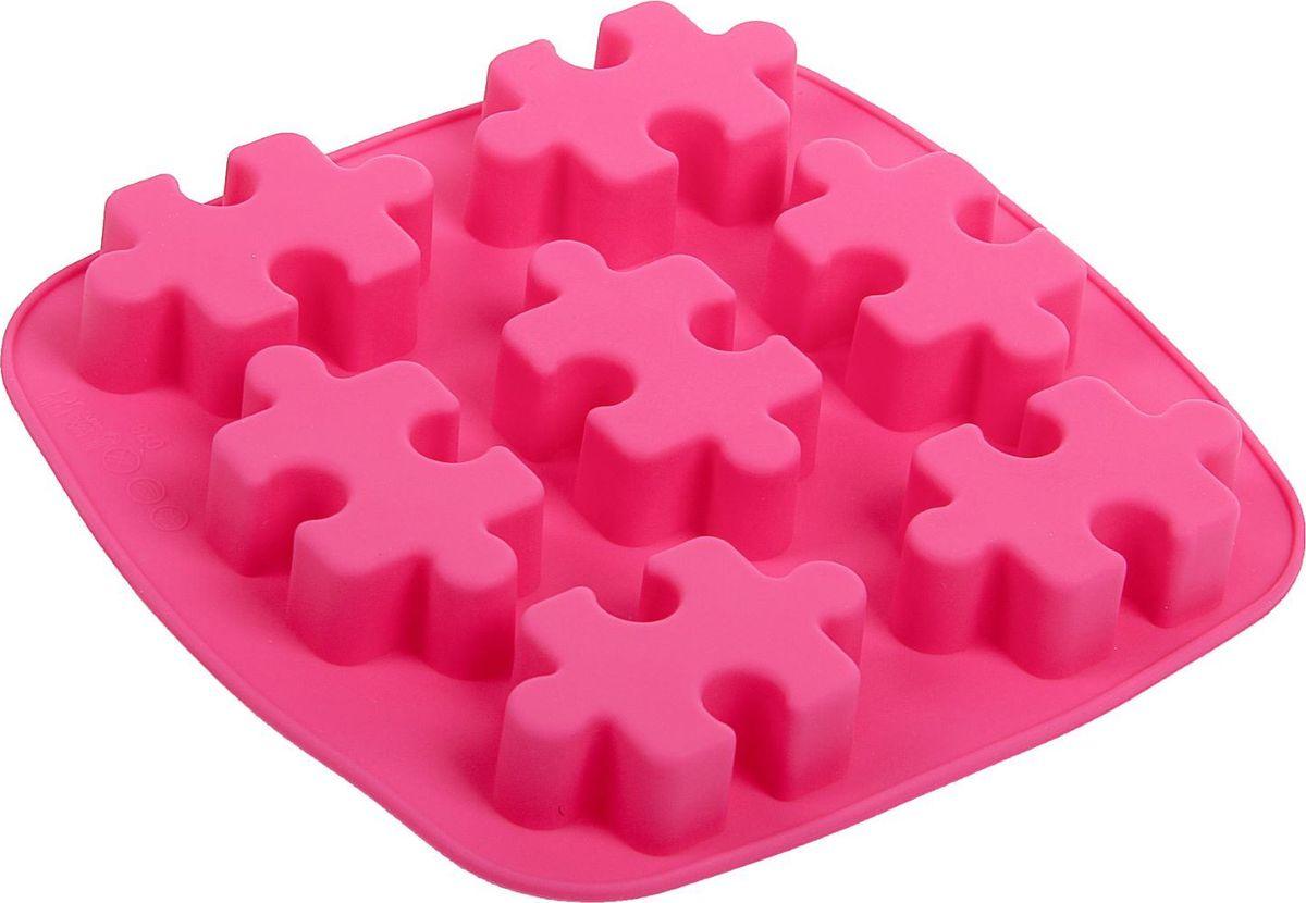 Форма для выпечки Доляна Пазлы, силиконовая, цвет: розовый, 17,6 х 18 х 2 см, 7 ячеек1857437Форма Доляна Пазлы, изготовленная из силикона, имеет 7 ячеек в виде мозаики.Силиконовые формы для выпечки имеют множество преимуществ по сравнению с традиционнымиметаллическими формами и противнями. Нет необходимости смазывать форму маслом. Форма быстро нагревается, равномерно пропекает, не допускает подгорания выпечки с краев или снизу. Вынимать продукты из формы очень легко. Слегка выверните края формы или оттяните в сторону, и ваша выпечка легко выскользнет из формы.Материал устойчив к фруктовым кислотам, не ржавеет, на нем не образуются пятна. Форма может быть использована в духовках и микроволновых печах (выдерживает температуру от -40°С до +250°С), также ее можно помещать в морозильную камеру и холодильник. Можно мыть в посудомоечной машине. Размер формы: 17 х 18 х 2 см. Размер ячеек: 6,5 х 4 х 2 см.