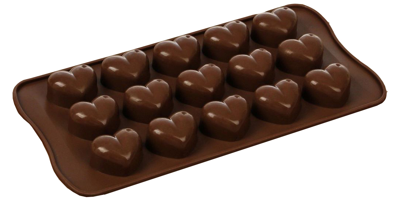 """Форма для льда и шоколада Доляна """"Сердечки"""", 15 ячеек, 22 х 11 см"""