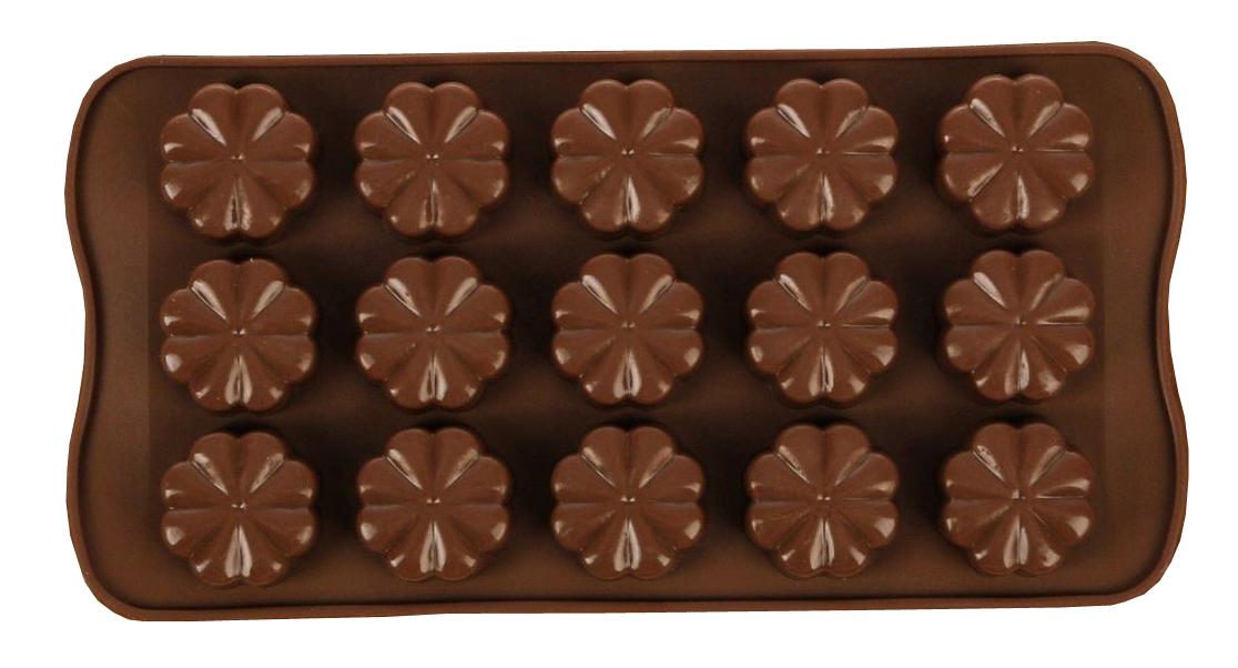 Форма для льда и шоколада Доляна Цветочки, 15 ячеек, 21 х 10 см811909Силикон не теряет эластичности при отрицательных температурах (до - 40 С), поэтому, готовые льдинки легко достаются из формы и не крошатся. Лед получается идеальной формы. С силиконовыми формами для льда легко фантазировать и придумывать новые рецепты. В формах можно заморозить сок или приготовить мини порции мороженого, желе, шоколада или другого десерта. Особенно эффектно выглядят льдинки с замороженными внутри ягодами или дольками фруктов. Заморозив настой из трав, можно использовать его в косметологических целях.