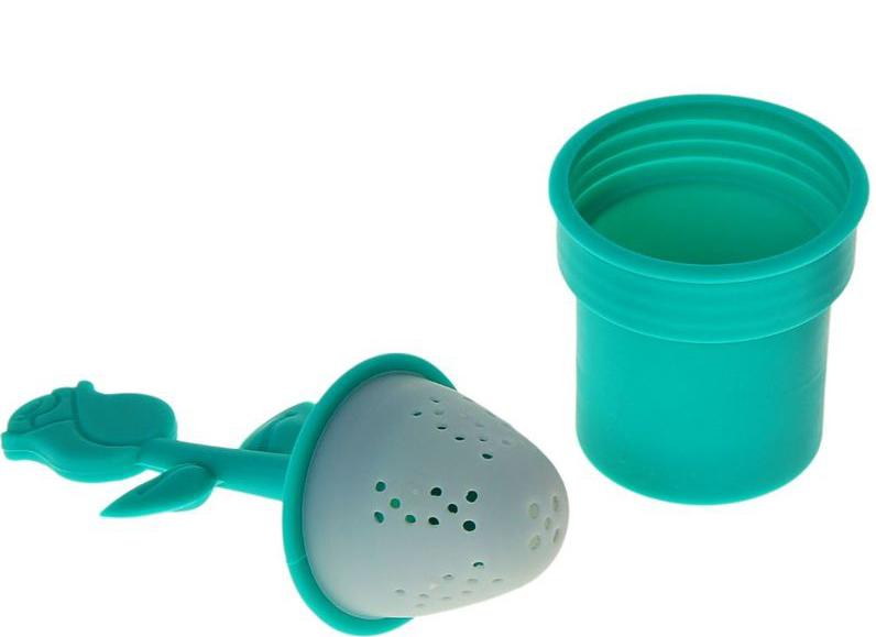 Ситечко для чая Доляна Роза, 12 х 5 см861120Силиконовое ситечко поможет вам быстро заварить листовой чай прямо в кружке. Всё, что нужно — это насыпать внутрь смесь и плотно закрыть ёмкость крышкой.