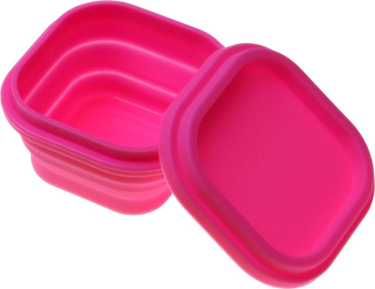 Контейнер пищевой Доляна Клэр, складной, 10 х 10 х 6 см861126Изделие, выполненное из качественного силикона, снабжено герметично закрывающейся пластиковой крышкой с прокладкой. Это значит, что вы можете смело брать с собой на работу, в дорогу или на пикник самую разнообразную еду. Материал изделия сохранит первозданные вкус и аромат продуктов. Кроме того, силикон отличается гладкостью и термостойкостью, что даёт важные преимущества.