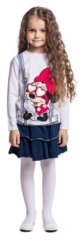 Юбка для девочки PlayToday, цвет: темно-синий. 372068. Размер 122372068Трикотажная юбка PlayToday отлично дополнит повседневный гардероб ребенка. Пояс на широкой резинке, дополнен регулируемым шнуром-кулиской. Модель дополнена двумя рядами пышных оборок.