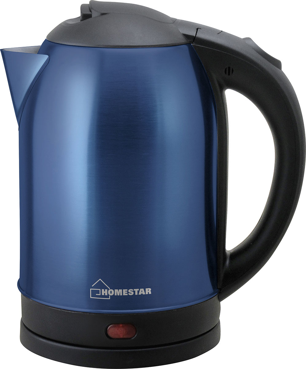 HomeStar HS-1009, Blue электрический чайник54 002996Электрический чайник HomeStar HS-1009 прост в управлении и долговечен в использовании. Чайник изготовлен из высококачественных материалов. Мощность 1500 Вт быстро вскипятит 1,8 литра воды. Беспроводное соединение позволяет вращать чайник на подставке на 360°C. Для обеспечения безопасности при повседневном использовании предусмотрены функция автовыключения, а также защита от включения при отсутствии воды.