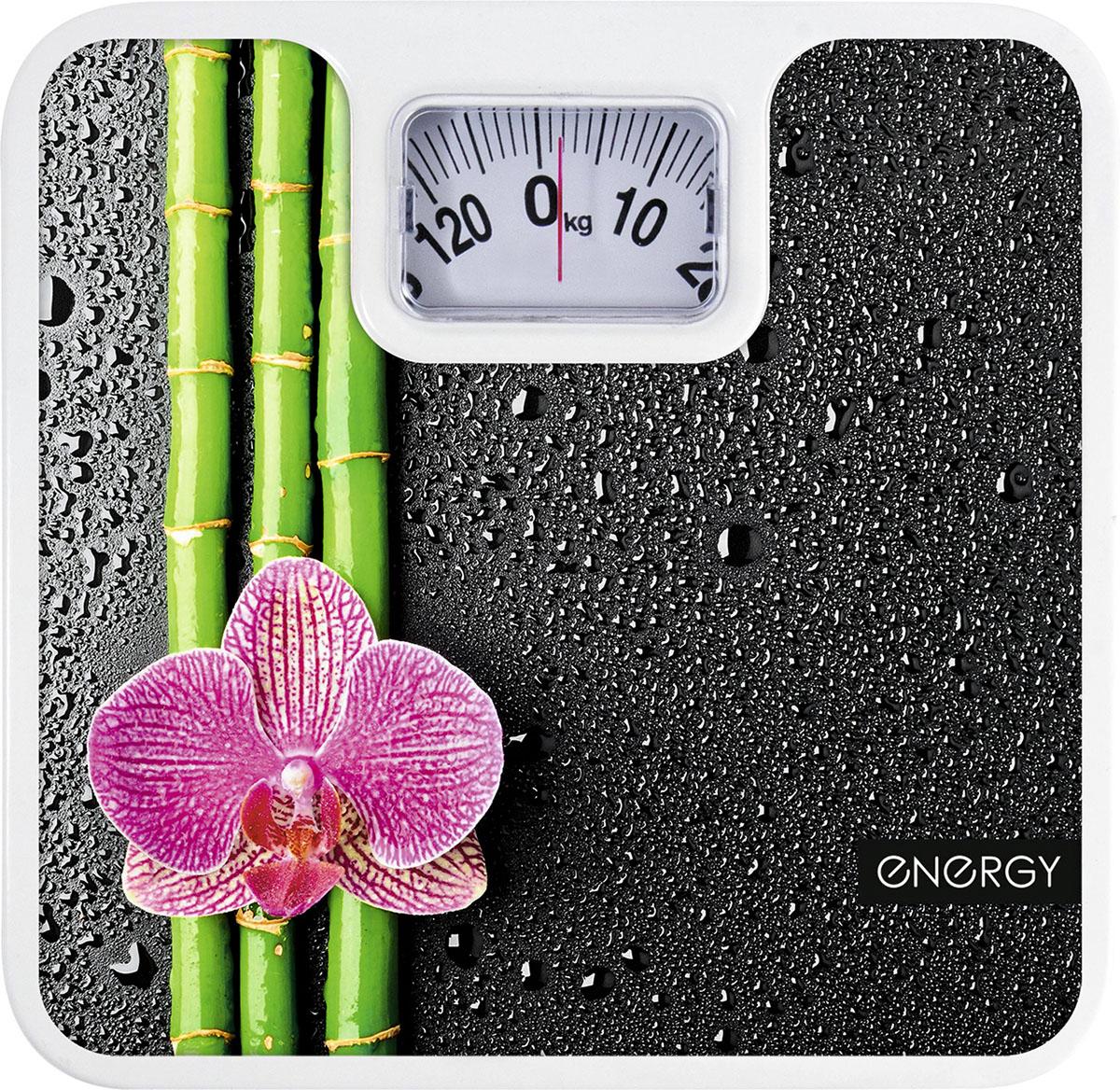 Energy ENМ-409D напольные весы54 003116Напольные механические весы Energy ENМ-409D - неотъемлемый атрибут здорового образа жизни. Они необходимы тем, кто следит за своим здоровьем, весом, ведет активный образ жизни, занимается спортом и фитнесом. Очень удобны для будущих мам, постоянно контролирующих прибавку в весе, также рекомендуются родителям, внимательно следящим за весом своих детей.Надежный механизмКрупный шрифт надписей на шкалеЦена деления: 1 кг