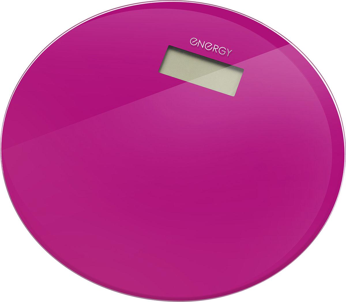 Energy EN-420 RIO, Pink напольные весы54 003496Напольные электронные весы Energy EN-420 RIO - неотъемлемый атрибут здорового образа жизни. Они необходимы тем, кто следит за своим здоровьем, весом, ведет активный образ жизни, занимается спортом и фитнесом. Очень удобны для будущих мам, постоянно контролирующих прибавку в весе, также рекомендуются родителям, внимательно следящим за весом своих детей.