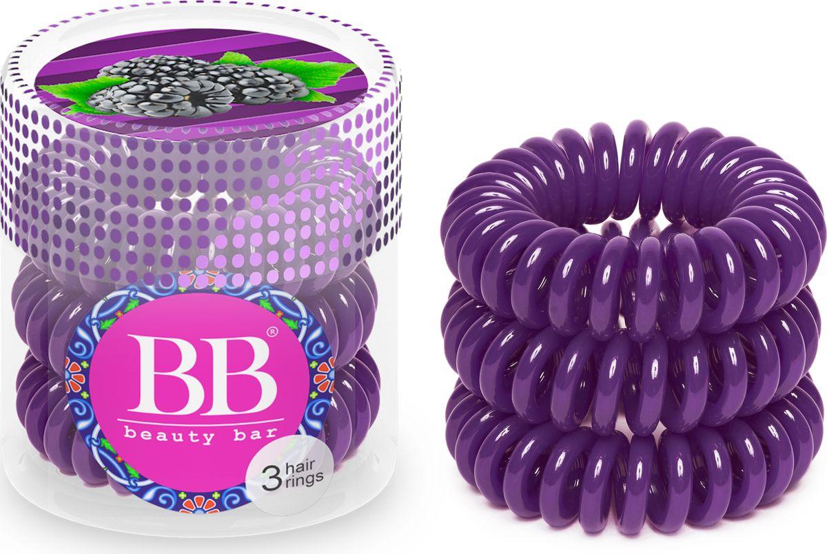 Резинка для волос Beauty Bar, цвет: фиолетовый820091Резинка-спиралька для волос Beauty Bar. Не оставляет заломов на волосах и не выдирает их, прочно держит хвост, не причиняя головной боли. При снятии резинка не тянет волосы. Также ее можно носить на руке в качестве стильного браслета.