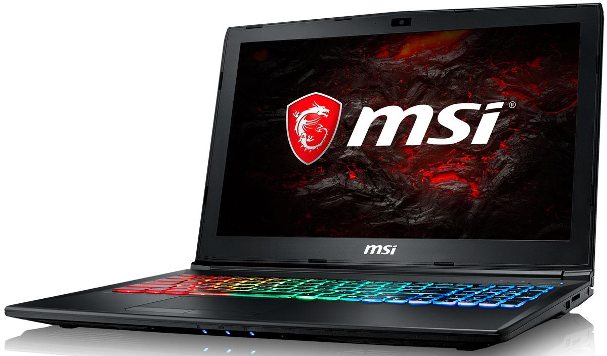 MSI GP62M 7REX-1657RU Leopard Pro, BlackGP62M 7REX-1657RUMSI GP62M 7REX Leopard Pro - это мощный ноутбук, который адаптирован для современных игровых приложений. Стильный шлифованный алюминиевый корпус прекрасно подчёркивает эстетику и мощь этой игровой машины.Седьмое поколение процессоров Intel Core серии H обрело более энергоэффективную архитектуру, продвинутые технологии обработки данных и оптимизированную схемотехнику. Производительность Core i7-7700HQ по сравнению с i7-6700HQ выросла в среднем на 8%, мультимедийная производительность - на 10%, а скорость декодирования/кодирования 4K-видео - на 15%. Аппаратное ускорение 10-битных кодеков VP9 и HEVC стало менее энергозатратным, благодаря чему эффективность воспроизведения видео 4K HDR значительно возросла.Запускайте игры быстрее других благодаря потрясающей пропускной способности PCI-E Gen 3.0x4 с поддержкой технологии NVMe на одном устройстве M.2 SSD. Используйте потенциал твердотельного диска Gen 3.0 SSD на полную. Благодаря оптимизации аппаратной и программной частей достигаются экстремальный скорости чтения до 2200 МБ/с, что в 5 раз быстрее твердотельных дисков SATA3 SSD.Вы сможете достичь максимально возможной производительности вашего ноутбука благодаря поддержке оперативной памяти DDR4-2400, отличающейся скоростью чтения более 32Гбайт/с и скоростью записи 36 Гбайт/с. Возросшая на 40% производительность стандарта DDR4-2400 (по сравнению с предыдущим поколением, DDR3-1600) поднимет ваши впечатления от современных и будущих игровых шедевров на совершенно новый уровень.Эксклюзивная технология MSI SHIFT выводит систему на экстремальные режимы работы, одновременно снижая шум и температуру до минимально возможного уровня. Переключаясь между пятью профилями, вы сможете достичь экстремальной производительности своей машины или увеличить время её работы от батарей. Функция легко активируется либо горячими клавишами FN + F7, либо через приложение Dragon Gaming Center.Эксклюзивная технология MSI Cooler Boost 4 заключа