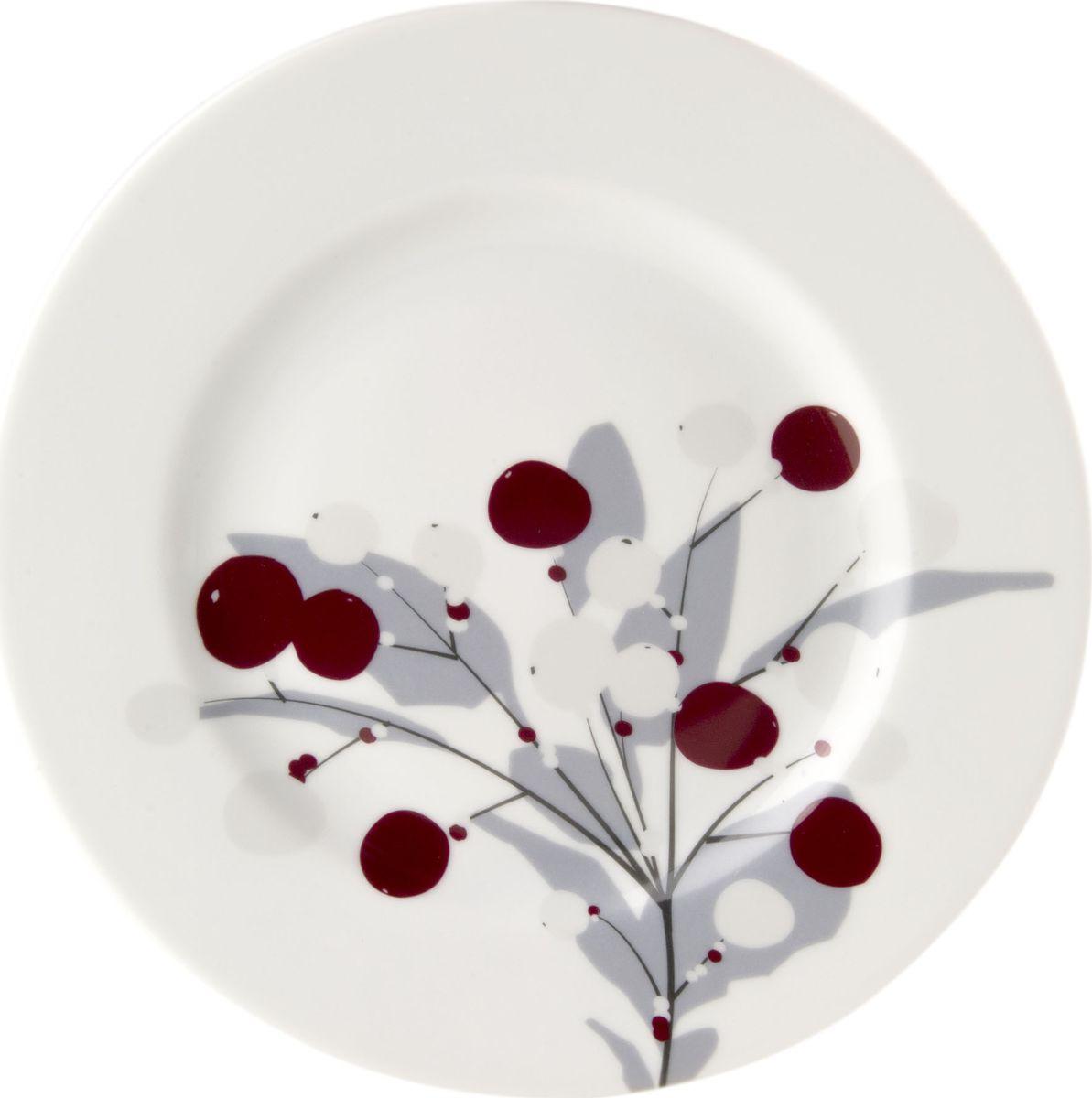 Тарелка Muurla Snowberry, диаметр 21 см365-021-01Тарелка Muurla Snowberry выполнена из фарфора. Она всегда будет украшением вашего стола, будь это праздник или обычный будний день в кругу семьи. Диаметр: 21 см.