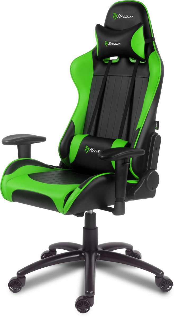 Arozzi Verona, Green игровое креслоVERONA-GNКомпьютерное кресло Arozzi Verona переносит вас на следующий этап в комфортном использованииэргономичной мебели.Шведские дизайнеры интегрировали наиболее популярные функции из других продуктовых линеек вместе споледними эргономичными решениями, чтобы создать игровое кресло, которое ставит вас в центре комфорта иконтроля за происходящим.Мягкая экокожа окутывает легкую металлическую конструкцию, что дает роскошное чувство, сохраняя при этом гибкость движения и быструю реакцию.Verona включает в себя эргономические функции, такие как экстра мягкое сидение, регулируемые подлокотники,дополнительные и регулируемые поддержки спины и головы и долговечная обивка, которую к тому же легкочистить. Верона поставляется в различных возбуждающих цветах, чтобы улучшить ваше пространствоКогда наступит время побеждать, Verona поможет вам провести время за гранью комфорта.