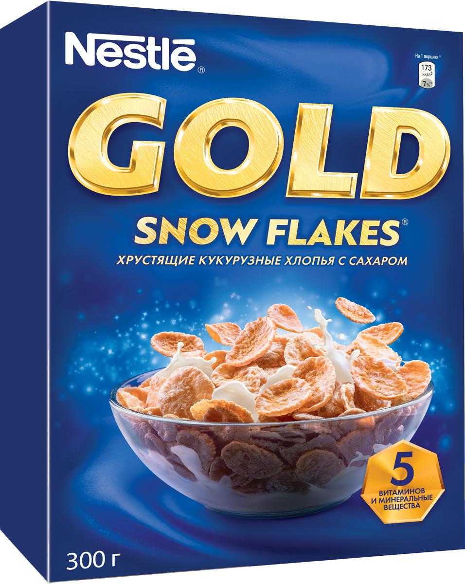 Nestle Gold Snow Flakes готовый завтрак, 300 г корм tetra tetramin xl flakes complete food for larger tropical fish крупные хлопья для больших тропических рыб 10л 769946