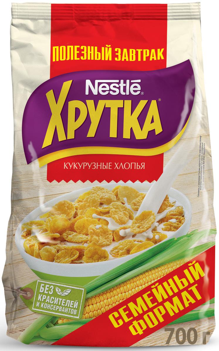 Nestle Хрутка Кукурузные хлопья готовый завтрак, 700 г12204943Готовый завтрак Nestle Хрутка - это именно то, что вам нужно! Добавьте молоко, йогурт, кефир или сок - и ваше утро начнется с вкусного разнообразного завтрака. Кукурузные хлопья Хрутка производятся по высоким стандартам качества Nestle из кукурузы, выращенной в России. Кукурузные зерна тщательно отбираются, затем очищаются и подвергаются бережной обработке. Благодаря специальной технологии приготовления, хлопья получаются вкусными и полезными.