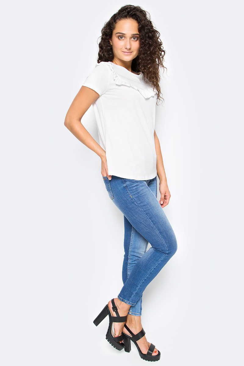 Футболка женская Tom Tailor, цвет: белый. 1055036.00.71_8005. Размер S (44) футболка женская tom tailor цвет белый 1055030 00 71 8587 размер s 44