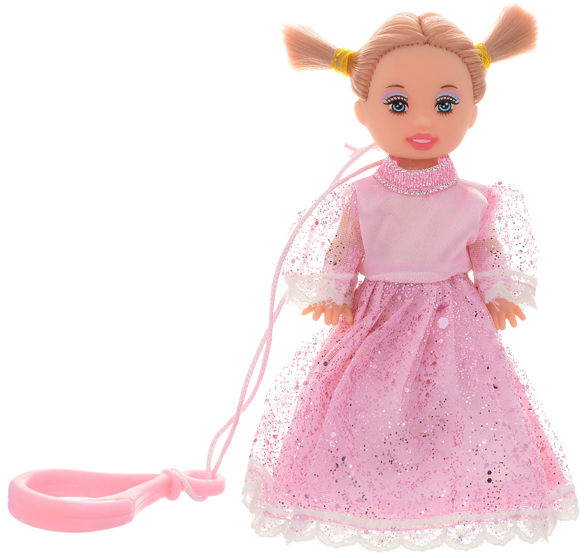 Defa Toys Мини-кукла Beily цвет платья розовый