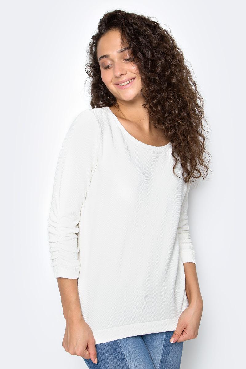 Джемпер женский Tom Tailor, цвет: белый. 2531325.09.71. Размер S (44) джемпер tom tailor цвет оранжевый