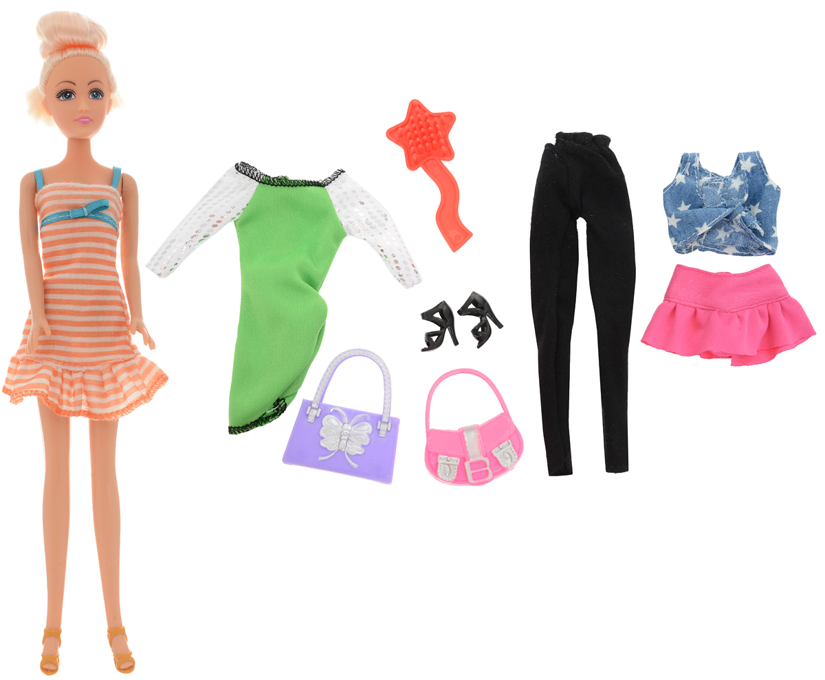 Funville Кукла Glimmer & Style цвет наряда оранжевый белый funville кукла sparkle girlz модница цвет наряда красный синий