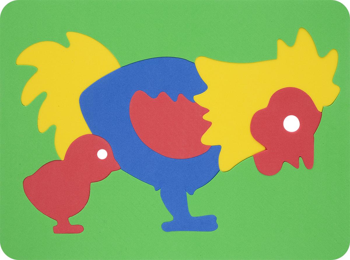 Фантазер Пазл для малышей Петушок цвет основы зеленый набор для лепки фантазер глина голубая 217011