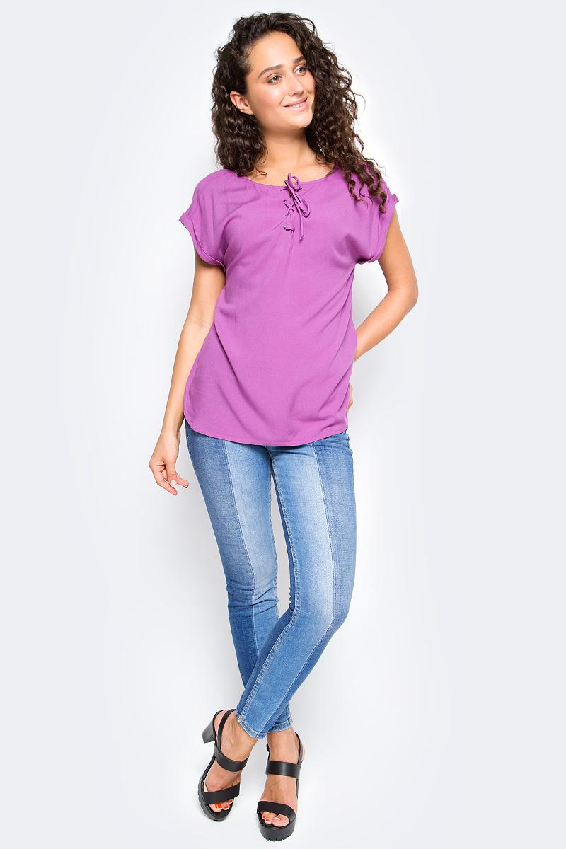 Блузка женская Tom Tailor, цвет: сиреневый. 2055047.00.71_5726. Размер XS (42)
